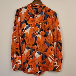 Who what wear BOLD Abstract button down blouse